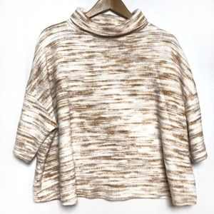 UO Silence + Noise Cowl Neck Beige Sweater